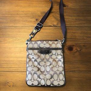 Authentic Brown/Tan Coach Crossbody Bag